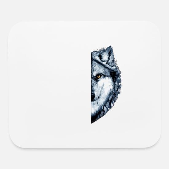 e147b03ca1703 i am the wolf animals amazon scare eat meat kill w Mouse pad Horizontal -  white