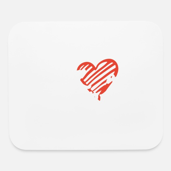 Love Mouse Pads - I love my husband wife t shirts - Mouse Pad white