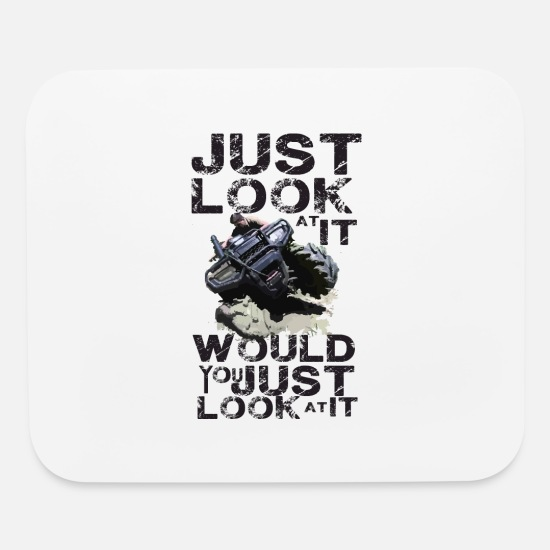 Motorcycle Mouse Pads - Just look at it - Mouse Pad white