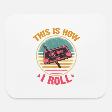 Cassette Funny Cassette Tape Pencil How I Roll 70s 80s 90s - Mouse Pad