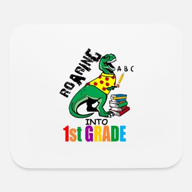 First Grade Roaring Into 1st Grade T Rex Back To School for - Mouse Pad