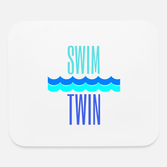 Ass Mouse Pads - Swim Twin Waves - Mouse Pad white