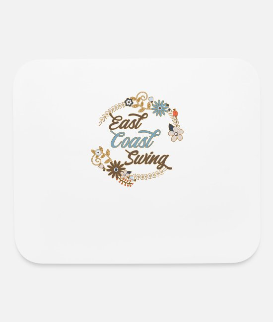 East Coast Mouse Pads - East Coast Swing Dance Present T-Shirt - Mouse Pad white