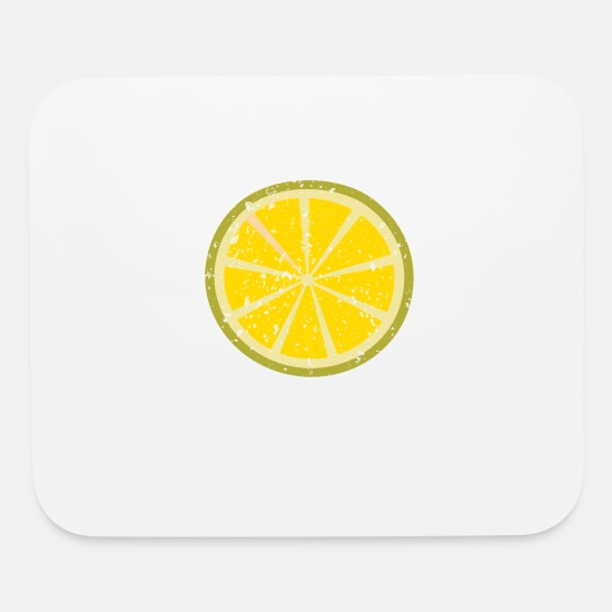Lemon Mouse Pads - Yellow Lemon Costume Halloween T-Shirt - Mouse Pad white