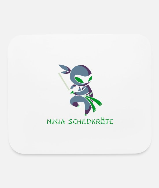 Turtle Mouse Pads - Ninja Schildkröte (Turtle) - Mouse Pad white