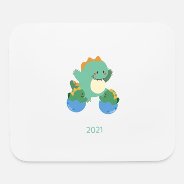 Brother Big Brother of Twins 2021 Dinosaur Twin - Mouse Pad