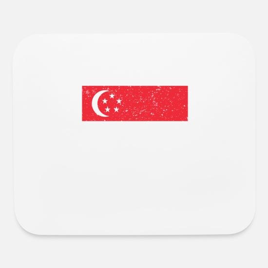 Singapore Mouse Pads - This is my singapore Costume Halloween T-Shirt - Mouse Pad white