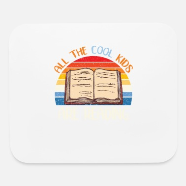 All the Cool Kids are Reading Retro Vintage Sunset - Mouse Pad
