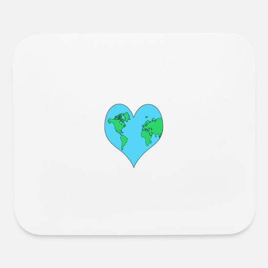 Love Mouse Pads - Planet, Mother Earth Heart Earth Day Gift - Mouse Pad white