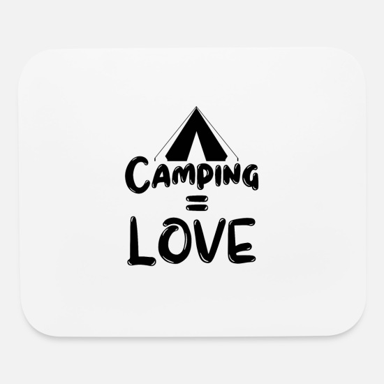 Tent Mouse Pads - Camping Love - Mouse Pad white