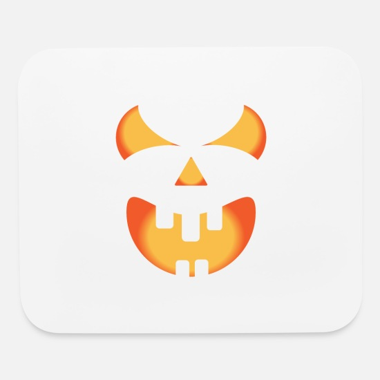 Halloween Mouse Pads - Halloween pumpkin face - Mouse Pad white