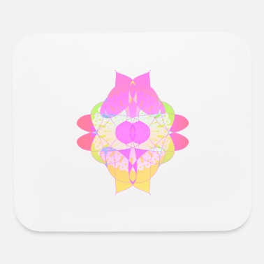 Abstract Flower of Passion and Love Abstract Design Art - Mouse Pad