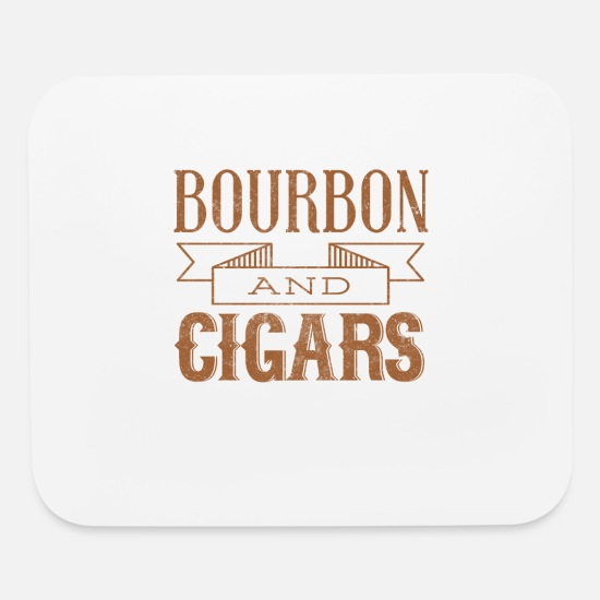 Cigar Mouse Pads - Bourbon and Cigars - Mouse Pad white
