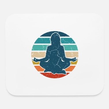 YOGA Meditation Retro Gifts For Yoga Lovers - Mouse Pad
