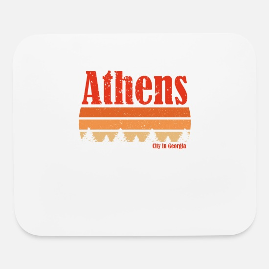 City Mouse Pads - Retro Athens Georgia Vintage Weathered Gifts Shirt - Mouse Pad white