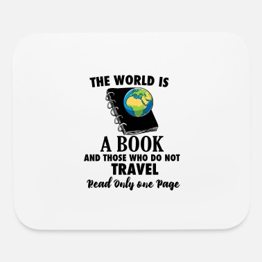 Travel Bug Book Travel Travel Bug reading world travel - Mouse Pad