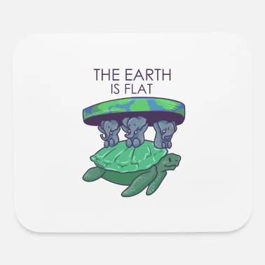 Earth flat earth conspiracy elephant turtle - Mouse Pad