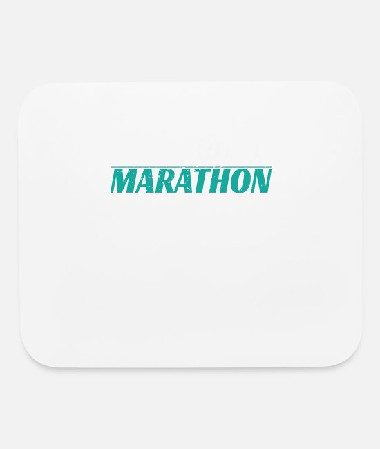 Competition Mouse Pads - Marathon - Run for fun - Mouse Pad white