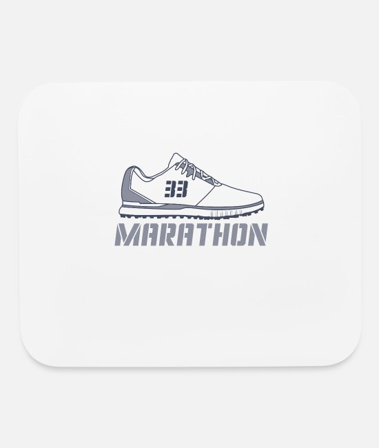 Competition Mouse Pads - Marathon - Shoe - Mouse Pad white