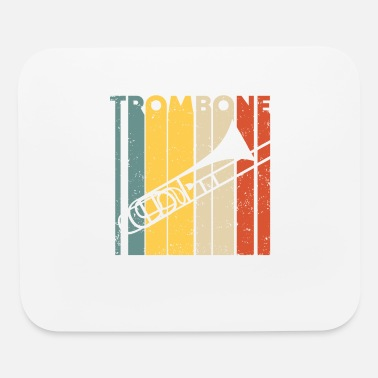 Birthday Saying Retro Vintage Trombone Marching Band Trombonist - Mouse Pad