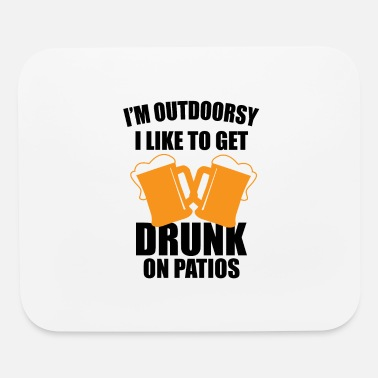 Beer Garden Alcohol drinking beer outside beer garden gifts - Mouse Pad