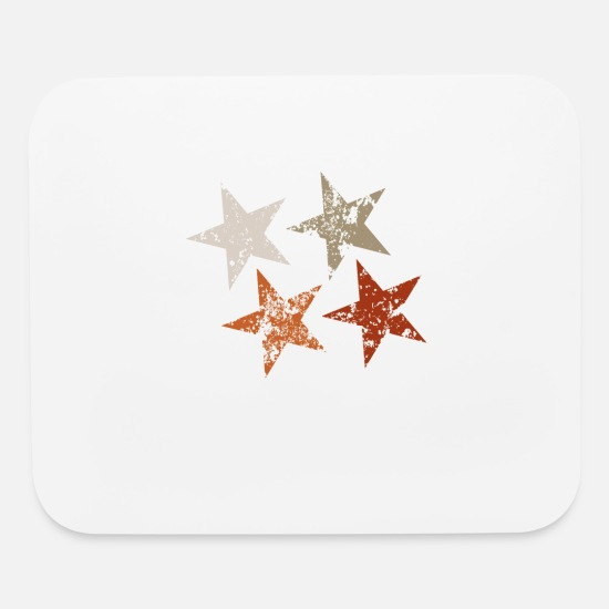 Retro Mouse Pads - Retro stars - Mouse Pad white