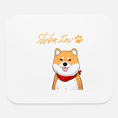 Tongue Funny Shiba Inu Uni Dog Red Scarf Paw I Gift Idea - Mouse Pad