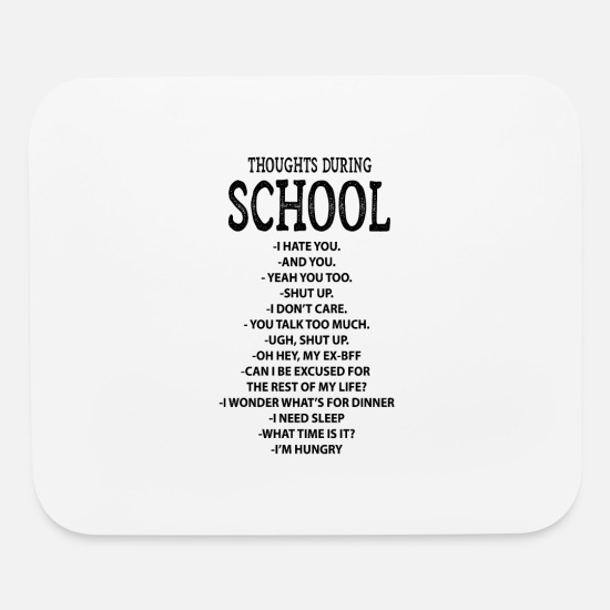 Gift Idea Mouse Pads - School sarcasm homework knowledge gifts - Mouse Pad white