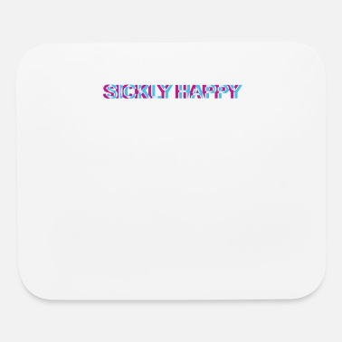 Deejay Sickly Happy Rave Techno Trippy EDM Festival Hardc - Mouse Pad
