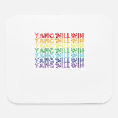 Democrat Yang Will Win Rainbow Color Text For President 202 - Mouse Pad