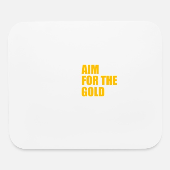 Weightlifting Mouse Pads - Aim for the gold - Mouse Pad white