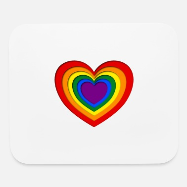 Paper Colorful papercut heart lgbt style - Mouse Pad