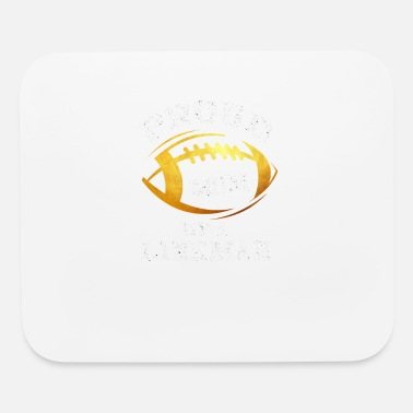 American Football Proud Mom Of A Lineman - Mouse Pad