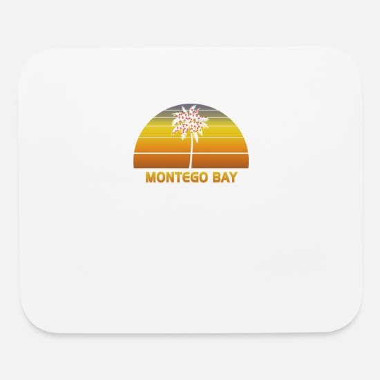 Novelty Mouse Pads - Montego Bay Jamaica Palm Tree Christmas Lights - Mouse Pad white