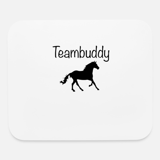 Horse Mouse Pads - Teambuddy Horse - Mouse Pad white