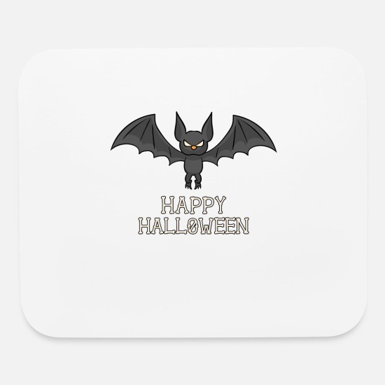 Love Mouse Pads - Vintage Halloween Kids Retro Bat Vampire Funny Gif - Mouse Pad white