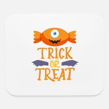 Trick Or Treat Candy Trick or Treat Funny Cute Halloween Candy bo - Mouse Pad