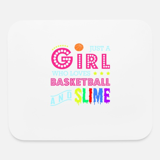 Birthday Mouse Pads - Basketball T Shirt - A Girl Who Loves Basketball A - Mouse Pad white