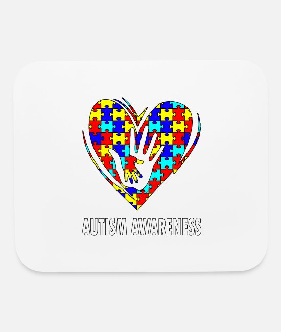 Autism Mouse Pads - Autism Awareness - Mouse Pad white