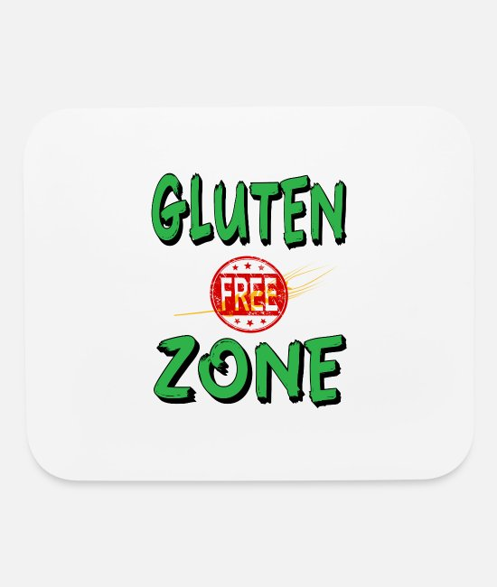 Zone Mouse Pads - Gluten Free Zone - Mouse Pad white