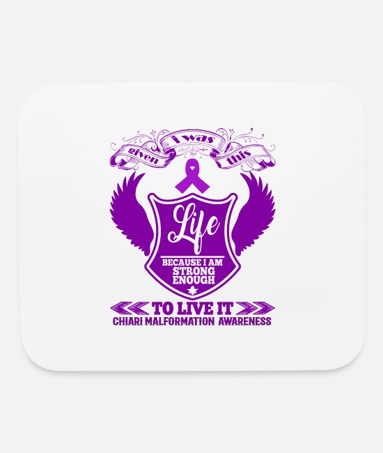 Lilac Mouse Pads - Chiari Malformation Awareness - Mouse Pad white