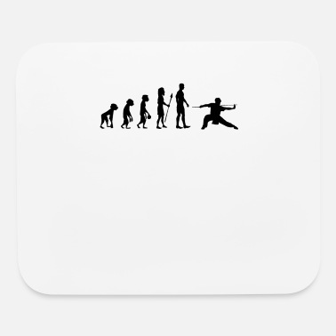 Scientific Wing Chun Shirt funny retro evolution of humans - Mouse Pad