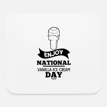 Waffle National Vanilla Ice Cream Day gift - Mouse Pad