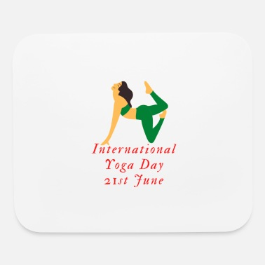 Wealth international yoga day 3 - Mouse Pad