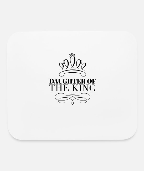 King Mouse Pads - Christian Apparel & Girls - Mouse Pad white