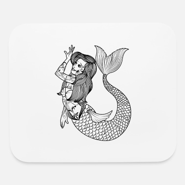 Tatoo VINTAGE MERMAID ART Mermaid Gift For Women - Mouse Pad