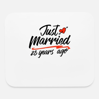 Paper Just Married 28 Year Ago Funny Wedding - Mouse Pad