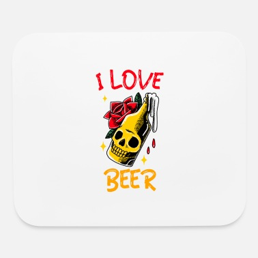 Beer Garden I love beer beer bottle beer garden gift - Mouse Pad