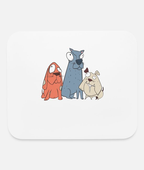 Design Mouse Pads - The Crazy Dogs - Mouse Pad white