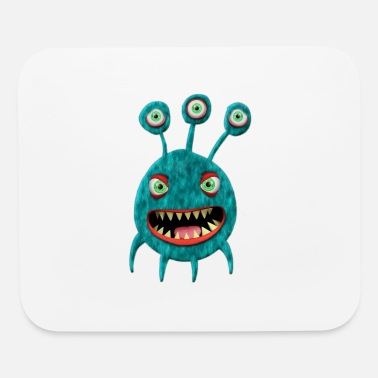 Trick Or Treat Cute Monster Baby Monster Face Eye Funny Halloween - Mouse Pad
